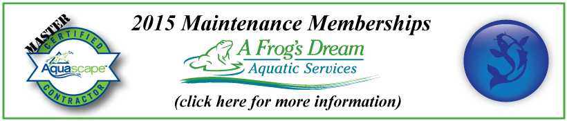 NJ Pond Maintenance Memberships